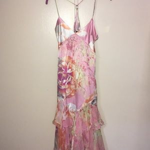 Just Cavalli Silk Floral Dress